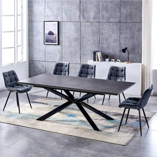 Ceramic extending table charcoal