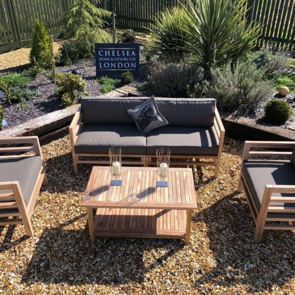 Teak garden sofa set