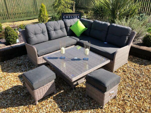 Rattan garden furniture premium corner sofa set