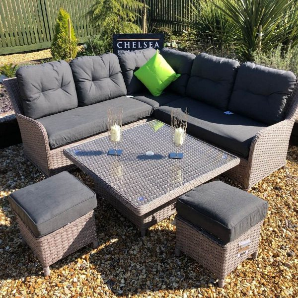 Rattan garden furniture premium corner sofa set