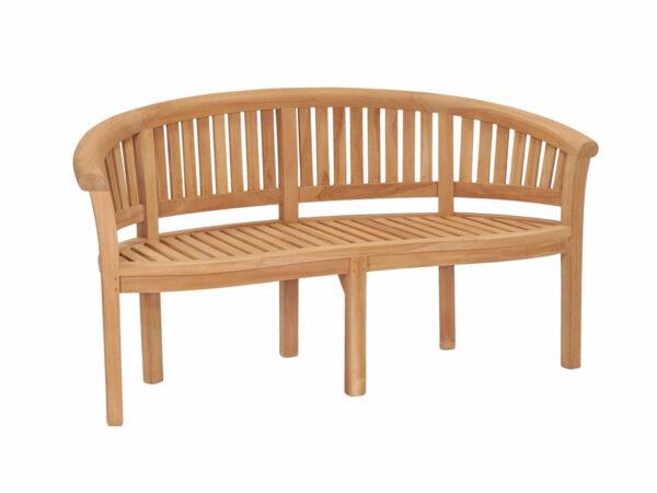 Teak garden furniture Bowood / Banana / Peanut Bench