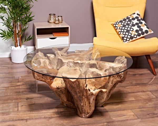 Teak Root Coffee Table From Reclaimed Teak Root Wood