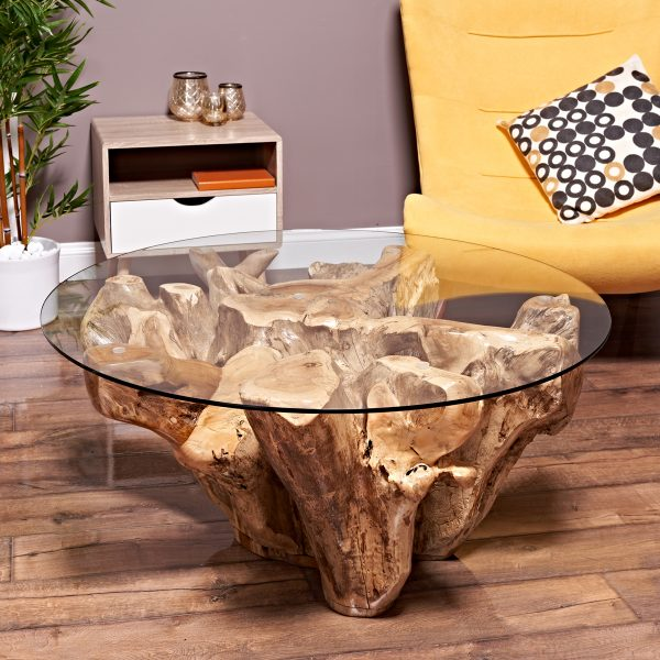 Teak Root Coffee Table From Reclaimed Teak Root Wood