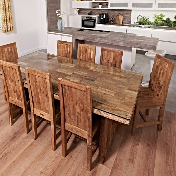Reclaimed Teak Table With 8 chairs
