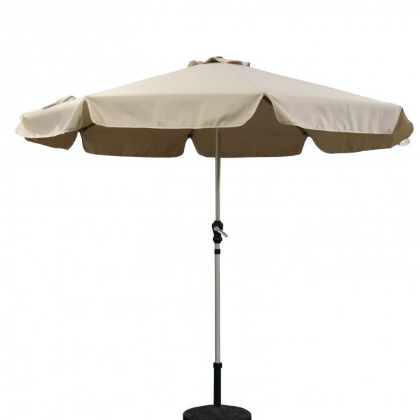 garden parasol 2.7m with crank handle and tilt function beige