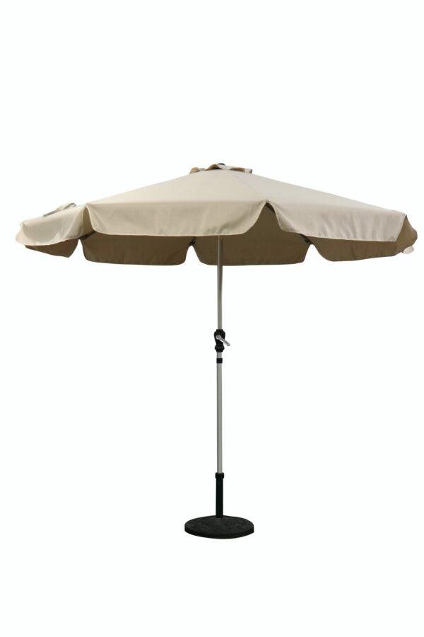 garden parasol 2.7m with crank handle and tilt function beige